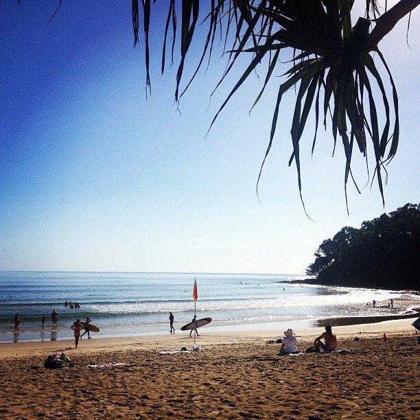 Noosa Beach - the glass magic.