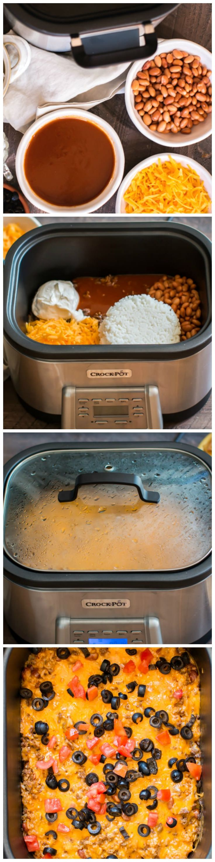 Slow Cooker Beef and Rice Enchilada Dip! Pefect for gameday! #sponsored #CrockPotRecipes