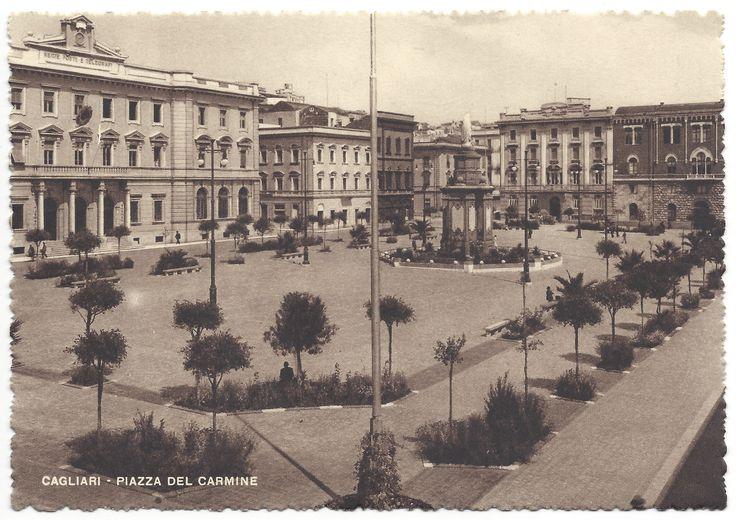 CAGLIARI - Piazza del Carmine (anni '40-'50)