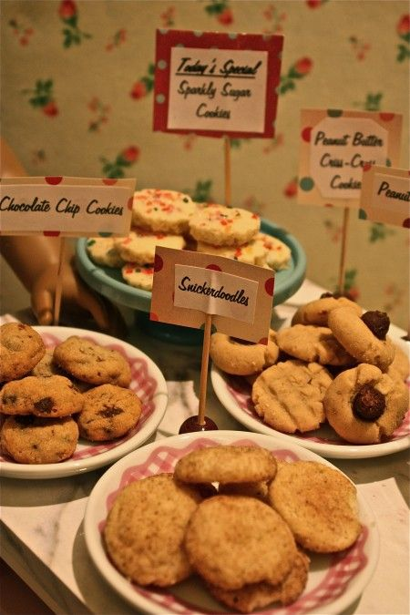 Miniature cookies (recipes out of Betty Crocker's New Boys and Girls Cookbook).