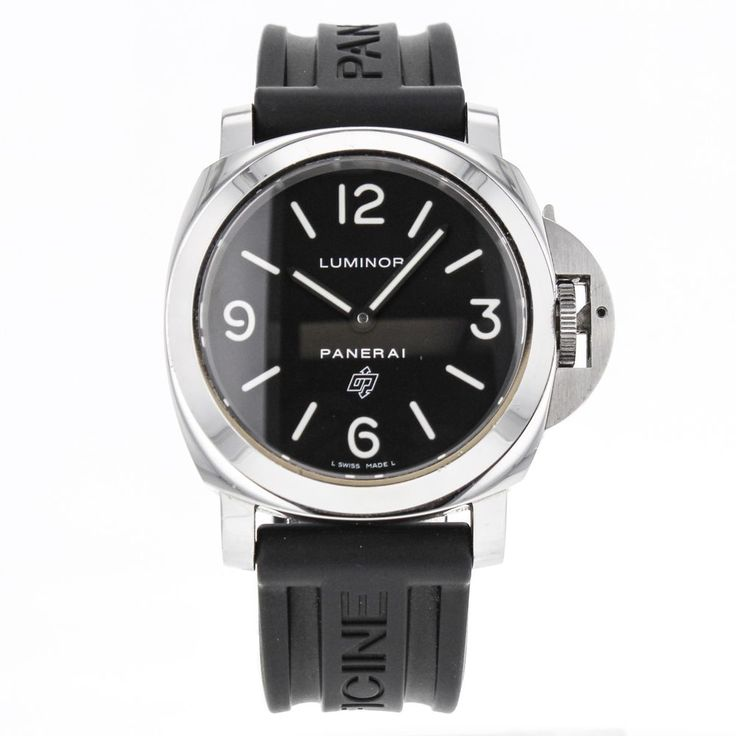 Officine Panerai OP6728 Stainless Steel Automatic Watch for Men with Logo Dial #Panerai #LuxurySportStyles