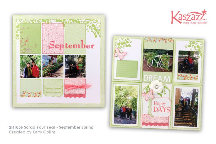 This project will show you how to create a page and pocket scrapbook layout using Moment By Moment - Spring cards.