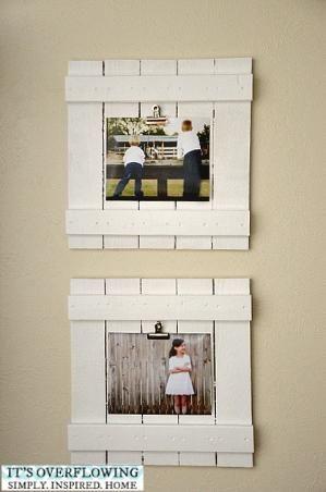 DIY repurposed wood frames by AmyJo127