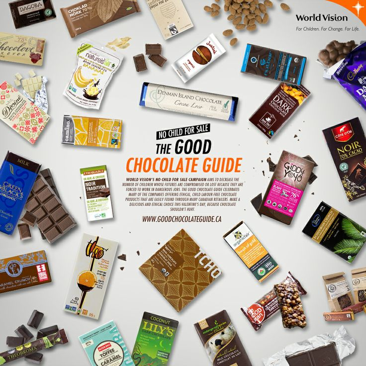 Learn about each of these 27 Canadian brands that has committed to selling ethical chocolate!  https://stipple.com/photos/54012464
