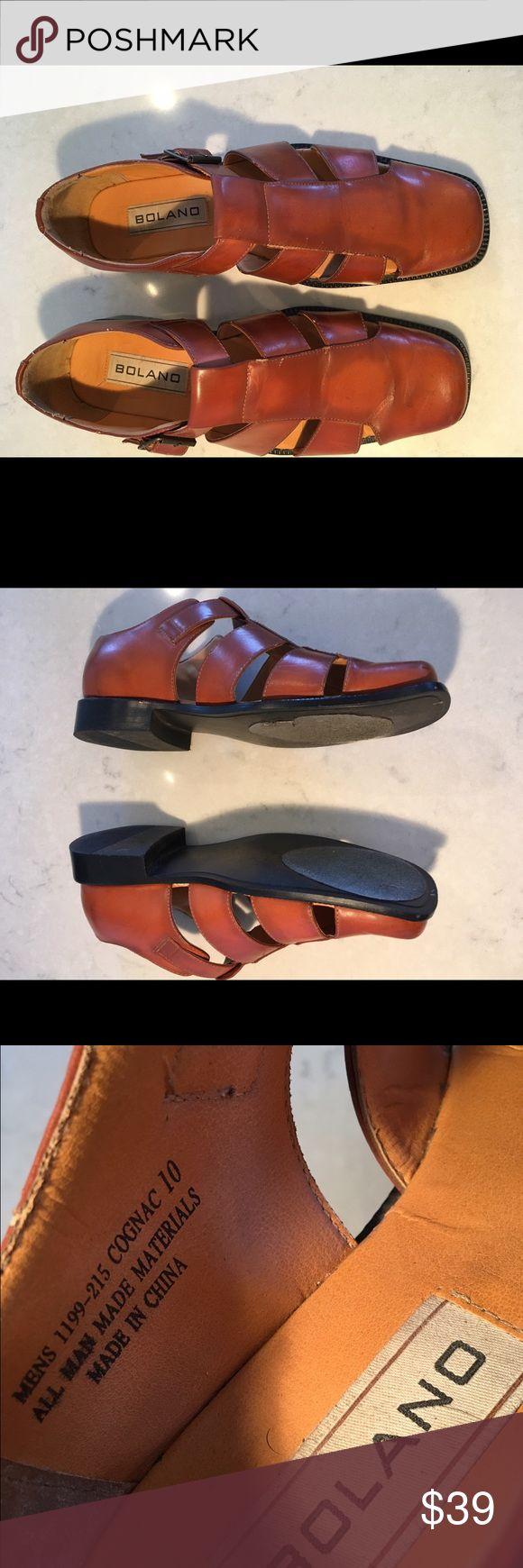 Men dress Sandals Cognac men sandals - feels larger than sz 10 (10.5 or 11) Bolano Shoes Sandals & Flip-Flops