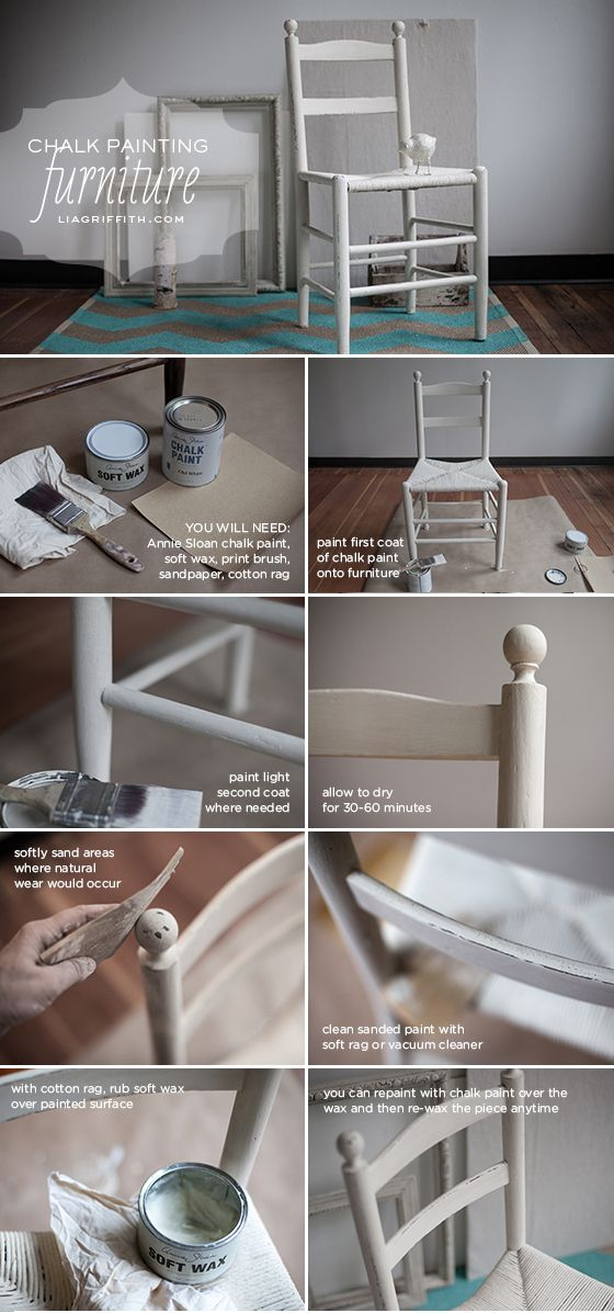 Hand Painted Furniture using Annie Sloan Chalk Paint | Lia Griffith