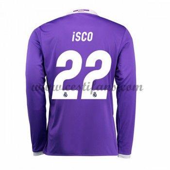 Real Madrid Fotbalové Dresy 2016-17 Isco 22 Venkovní Dres Dlouhým Rukávem