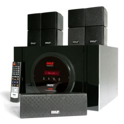 Bluetooth 5.1 Channel Home Theater System – Surround Sound Speakers & A/V Amplifier Receiver, FM Radio