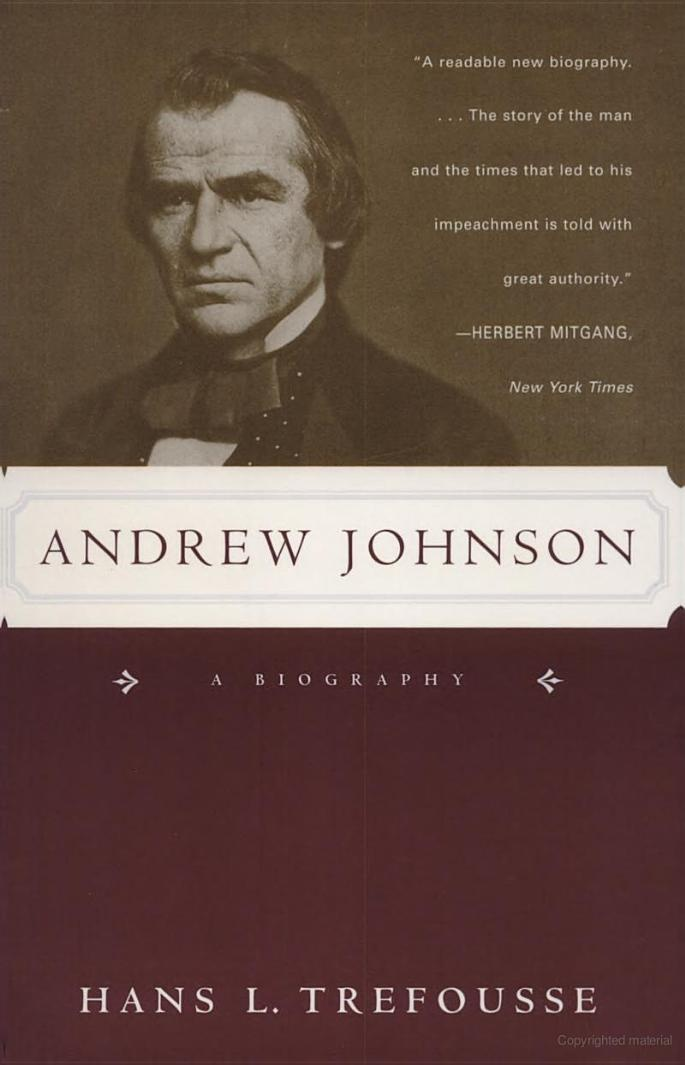 Andrew Johnson: A Biography