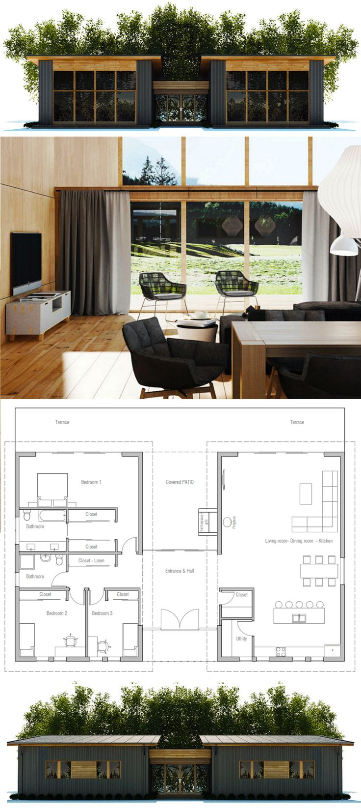 Best 25 cheap house plans ideas on pinterest park model for Affordable one story house plans
