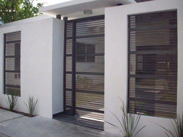 Fachadas de casas con herreria sencilla fachadas pinterest - Verjas de madera ...