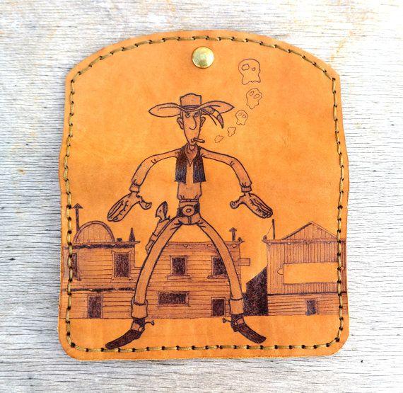 Lucky Luke tobacco bag by ZackLeatherCrafts on Etsy