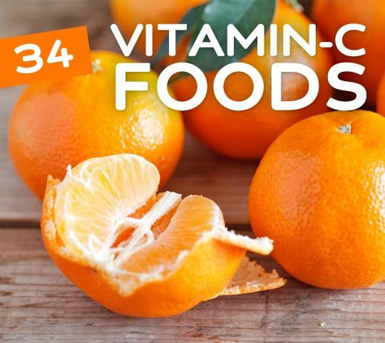 34 Foods high in Vitamin C- to keep your immune system strong & you healthy.