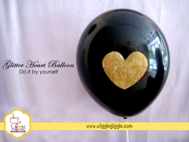 5.Your glitter heart balloon is now ready for Valentine's Day. Visit us at www.wigglegiggle.com