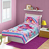 Quilted Reversible Bedspread Flat and Fitted Crib / Toddler Sheets 2 Side Print Pillow Case 100% Polyester Machine Washa ...
