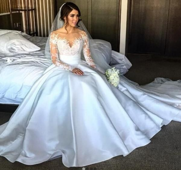2017 Charming New Full Lace Split Wedding Dresses with Detachable Satin Skirt , Popular Best Sale Bridals Dress, PD0223