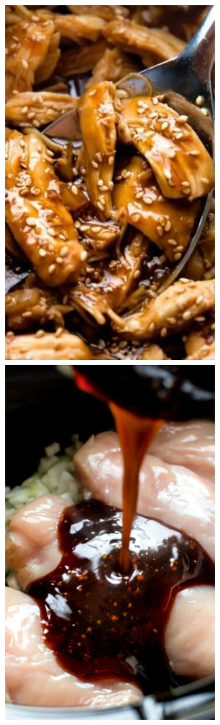 Slow Cooker Honey Teriyaki Chicken ~ So easy and delicious.