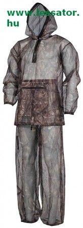 Két részes természetfotós tereptarka szúnyogháló ruha.