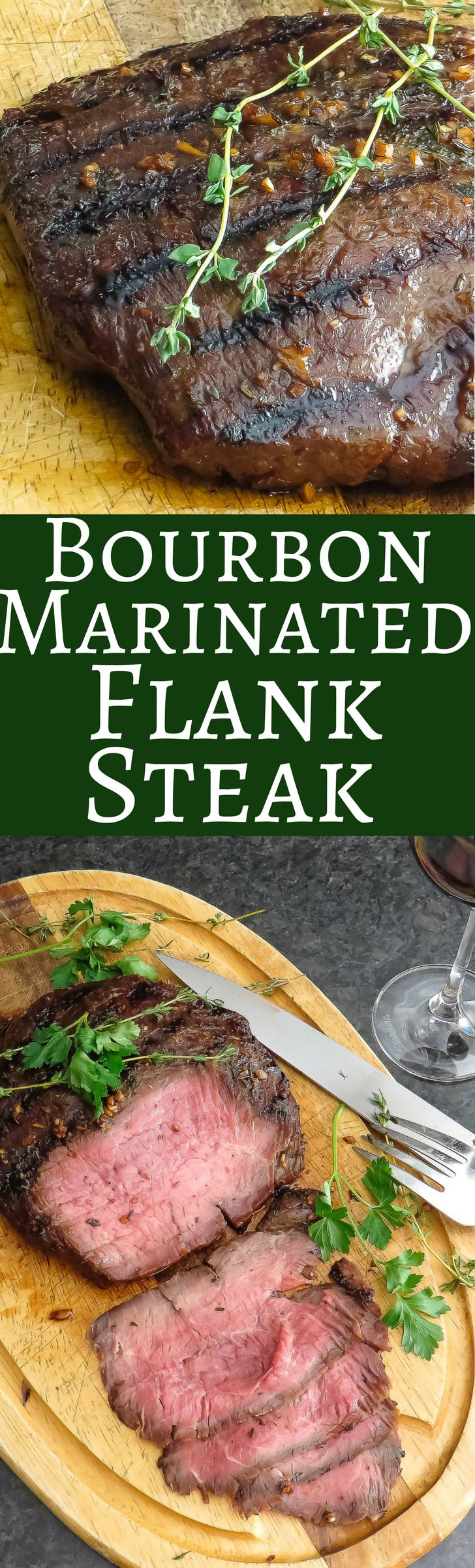 Bourbon Marinated Flank Steak