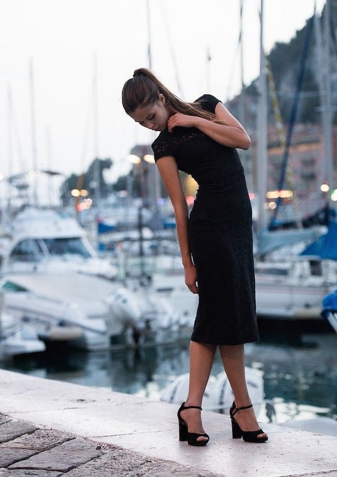 Evgenia A -  - Three words and she's your's: Little. Black. Dress.