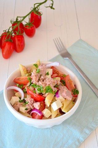 Makkelijke Maaltijd: Pastasalade met tonijn - #healthy #recipe