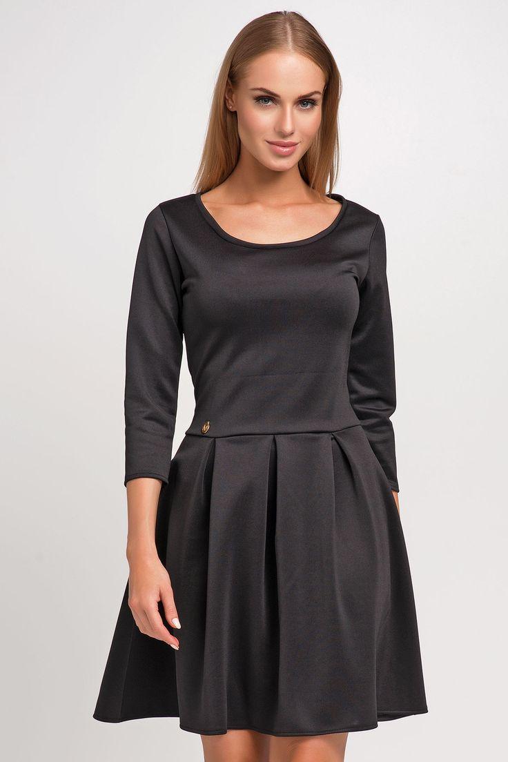 Makadamia M251 Sukienka - czarny