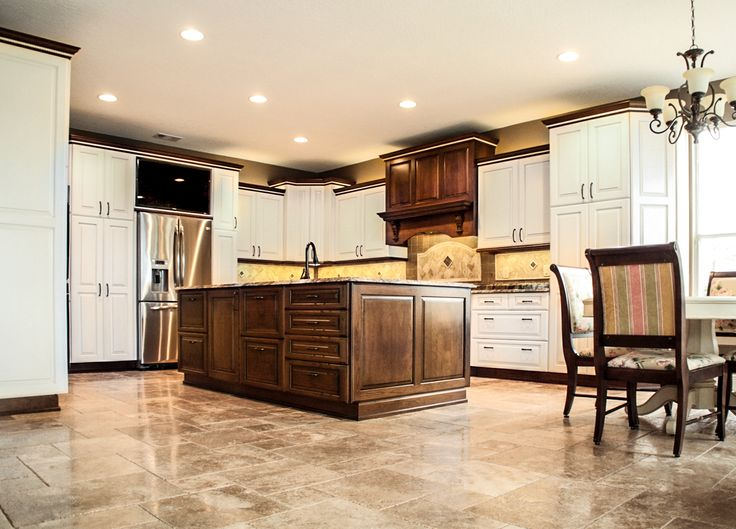 This Island Has Cherry Cabinets With A Chestnut/Antique Black Glaze In Door  # 795