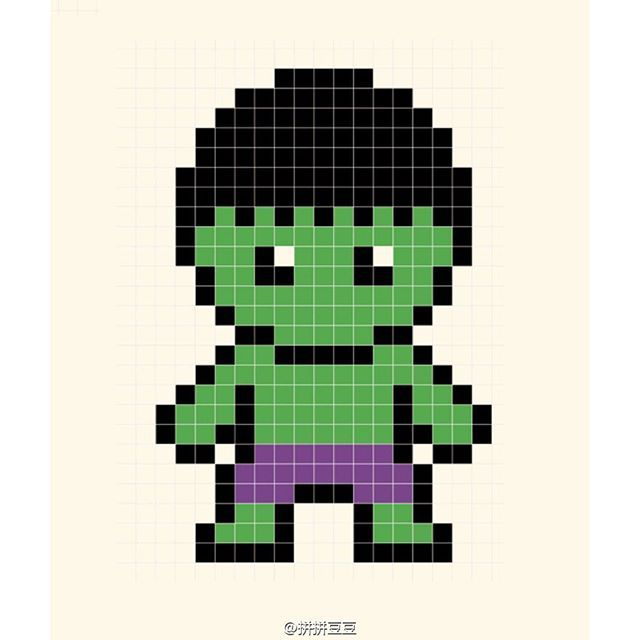 The Hulk Perler Bead Pattern