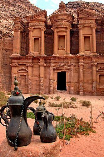 Arabic coffee at Petra, Jordan