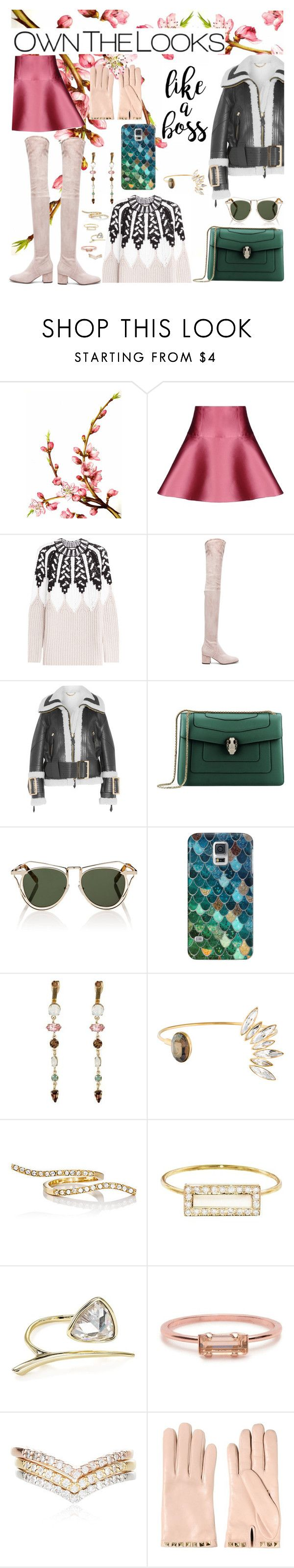 """""""Untitled #816"""" by adda21 ❤ liked on Polyvore featuring Language Of Flowers, RED Valentino, Peter Pilotto, Valentino, Burberry, Bulgari, Karen Walker, Casetify, Jules Smith and CA&LOU"""
