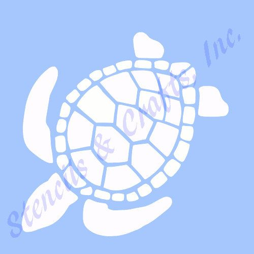 TURTLE STENCIL TEMPLATE animal template templates by sunflower33