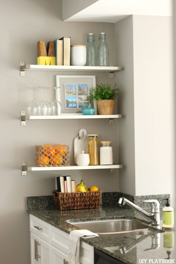 25+ Best Ideas About Kitchen Wall Shelves On Pinterest | Shelves