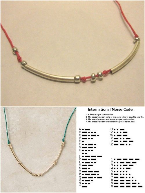 The 18 best images about Morse Code Jewelry on Pinterest - morse code chart