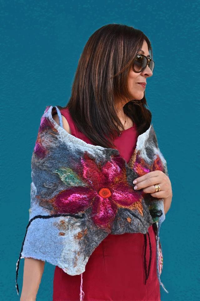 Chal Flor de Pasion Textil