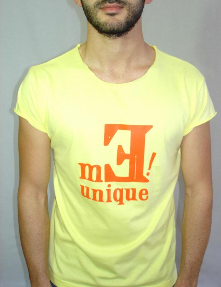 Me Unique Unique Oranged Yellow T-shirt at www.meunique.gr