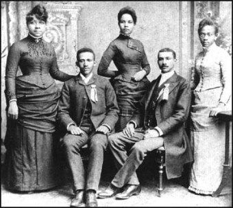 "Black Hair History - 1880s Fisk Graduates.. 1865: Slavery ends, but whites look upon black women who style their hair like white women as well-adjusted. ""Good"" hair becomes a prerequisite for entering certain schools, churches, social groups and business networks"