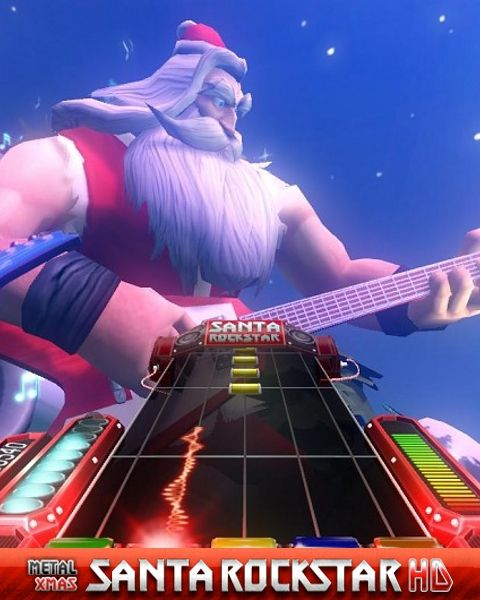 Introducing Santa Rockstar HD. A guitar rhythm game featuring a badass Santa travelling the world playing Rock/Metal versions of classic Christmas carols.