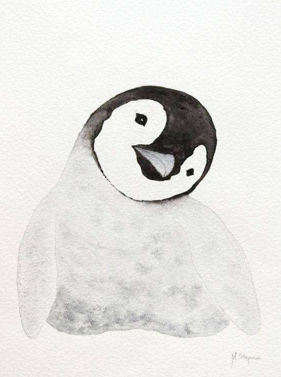 The emperor penguin chick XX by Malgorzata Stepniak