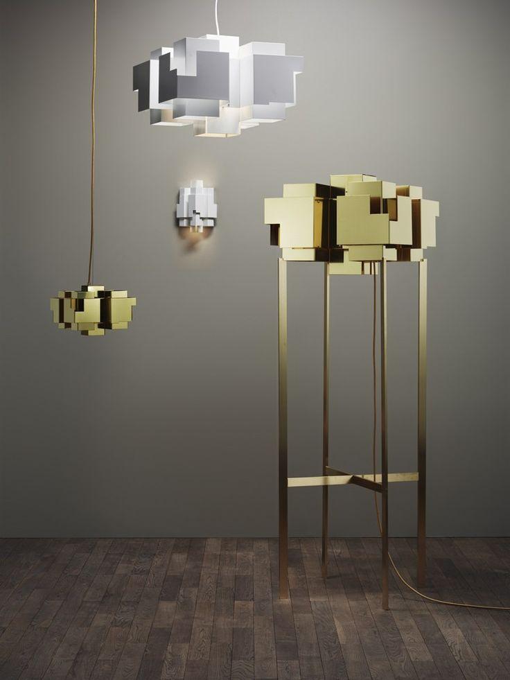 #brass floor #lamp SKYLINE by Örsjö Belysning | #design Folkform @orsjobelysning