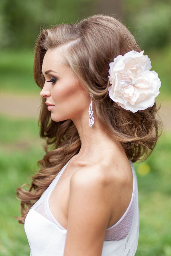 26 Perfect Wedding Hairstyles with Glam | http://www.deerpearlflowers.com/26-perfect-wedding-hairstyles-with-glam/