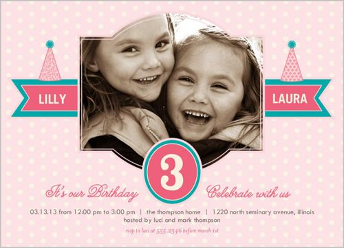 35 best Twin Birthday Invitations images – Shutterfly Birthday Invites