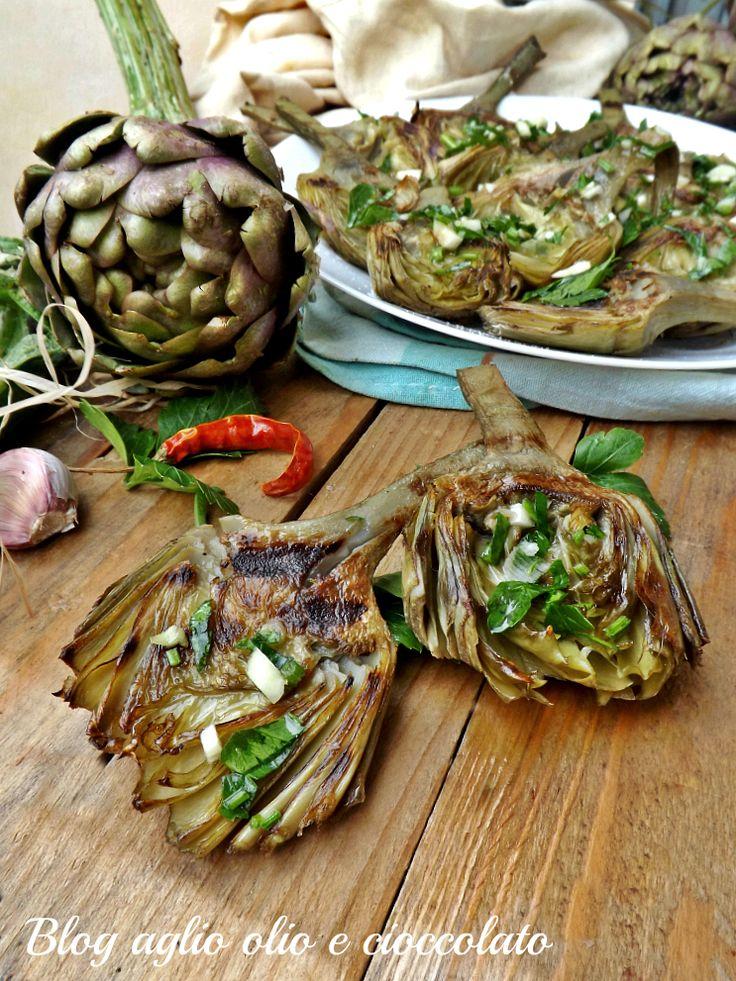 carciofi arrosto-secondo piatto semplice-veloce e gustoso