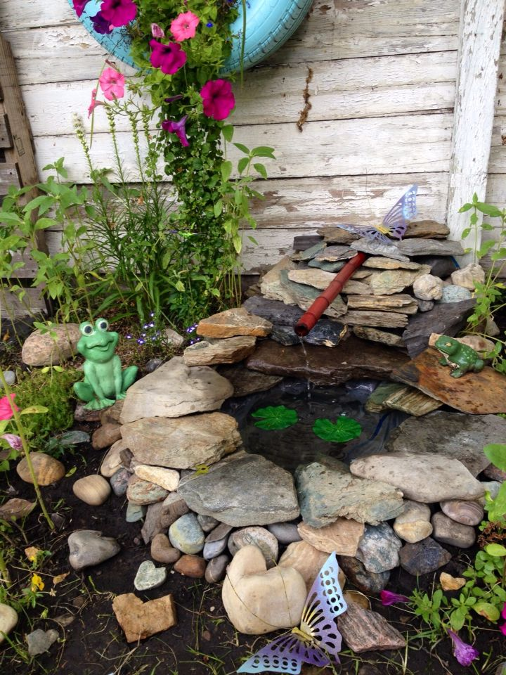 Recycled tire pond.