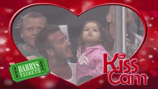 When David Beckham kissed his daughter. | The 21 Most Perfect Moments Captured By Kiss And Dance Cams In 2013