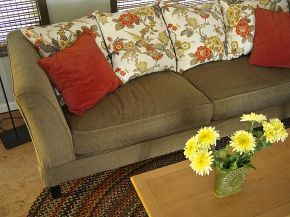 easy diy save for a tired old sofa, painted furniture, reupholster