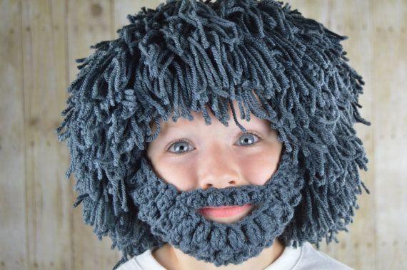 Peluca barba Hat - Halloween traje - cualquier Color - Hobo - Mad científico - Rasta-hombre de las cavernas-niños Halloween traje