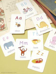 Tarjetas del alfabeto ilustradas para imprimir | Futuros Fonoaudiólogos