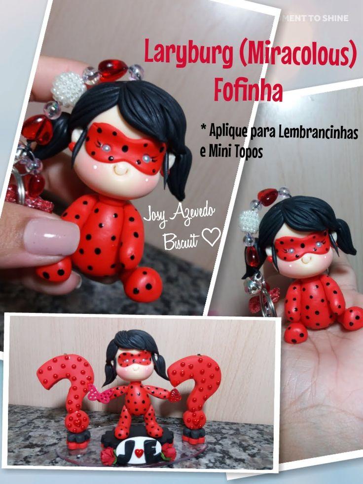 Laryburg (Miracolous) Fofinha - Chaveiros|Lembrancinhas|Mini Topos