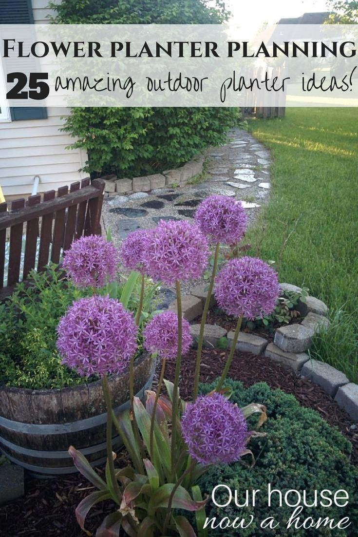 Amazing Outdoor Flower Planter Ideas Simple Diy Projects To Get Your Outdoor Space Summer Ready Love The Upcycled Chair Turned Into A Flower Planter