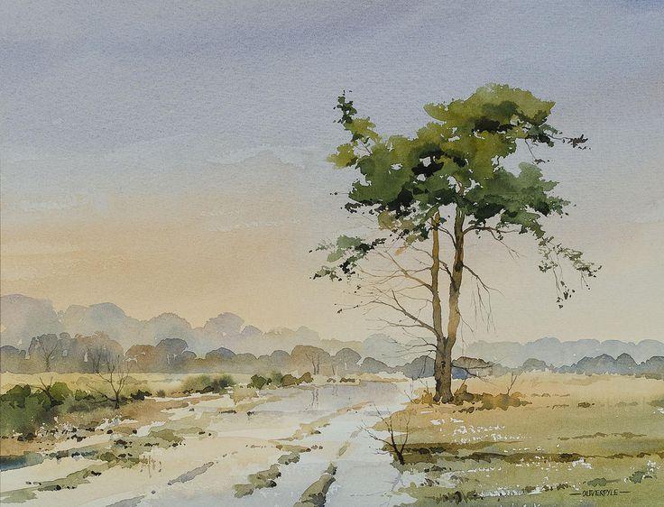 Oliver Pyle Fine Art, Aquarell, Landschaftsmalerei | Herbst